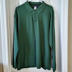 Patagonia long sleeve polo L